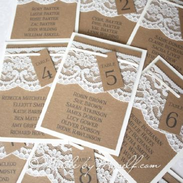 Kraft Table Plan Cards for you to mount yourself